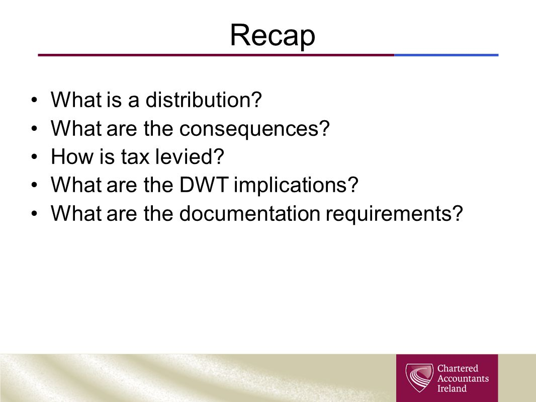 Recap What is a distribution What are the consequences