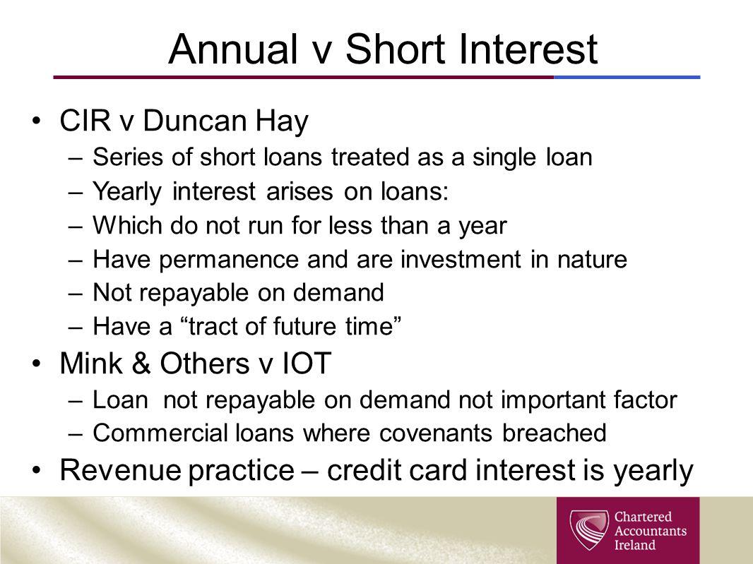 Annual v Short Interest
