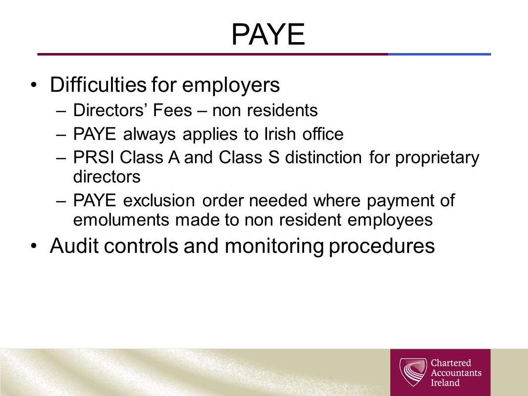 PAYE Difficulties for employers