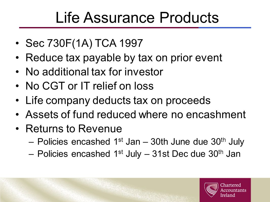 Life Assurance Products