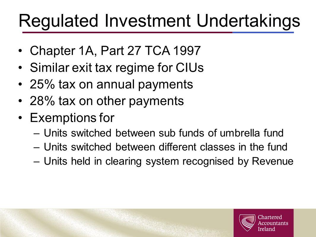 Regulated Investment Undertakings