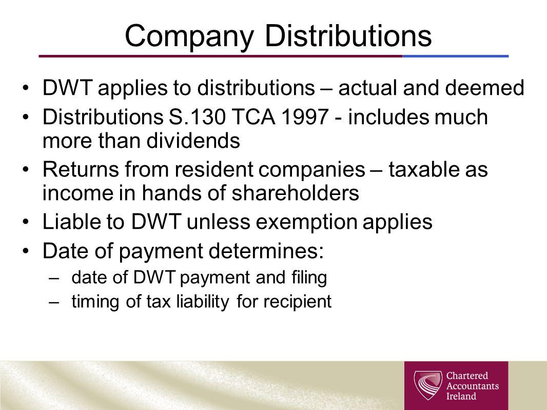 Company Distributions