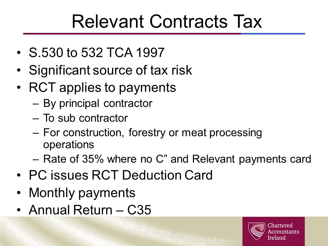 Relevant Contracts Tax