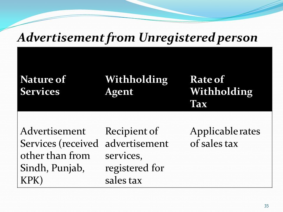Advertisement from Unregistered person