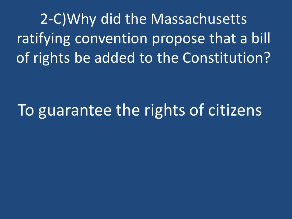 To guarantee the rights of citizens