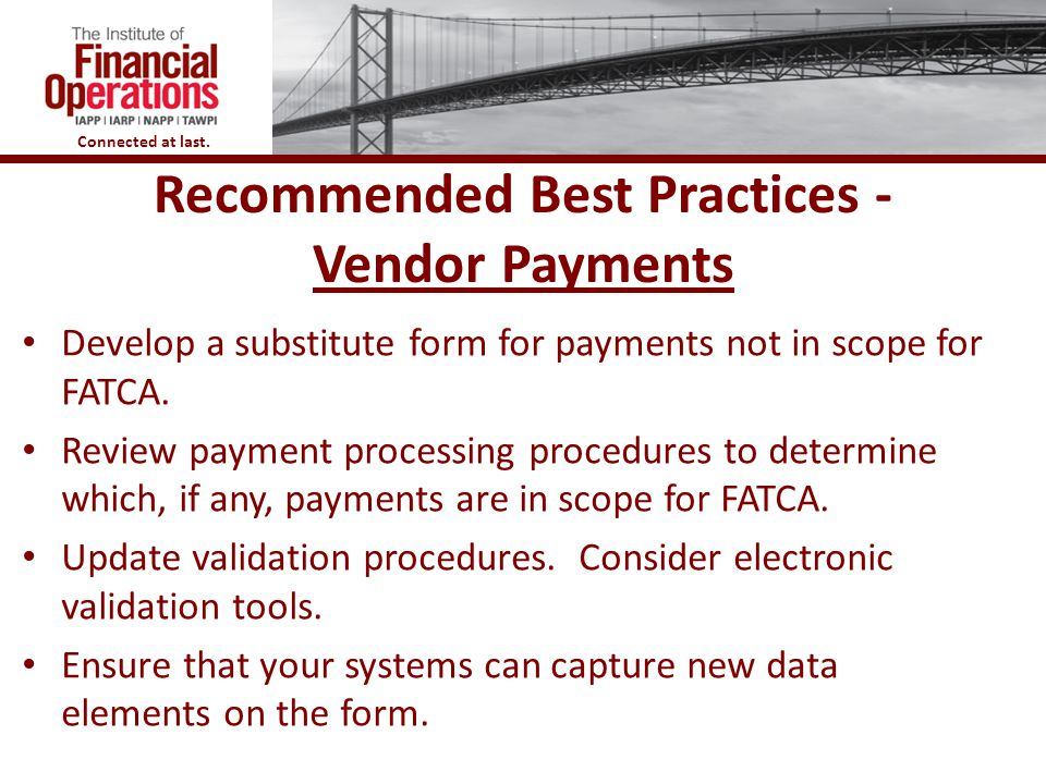 Recommended Best Practices - Vendor Payments