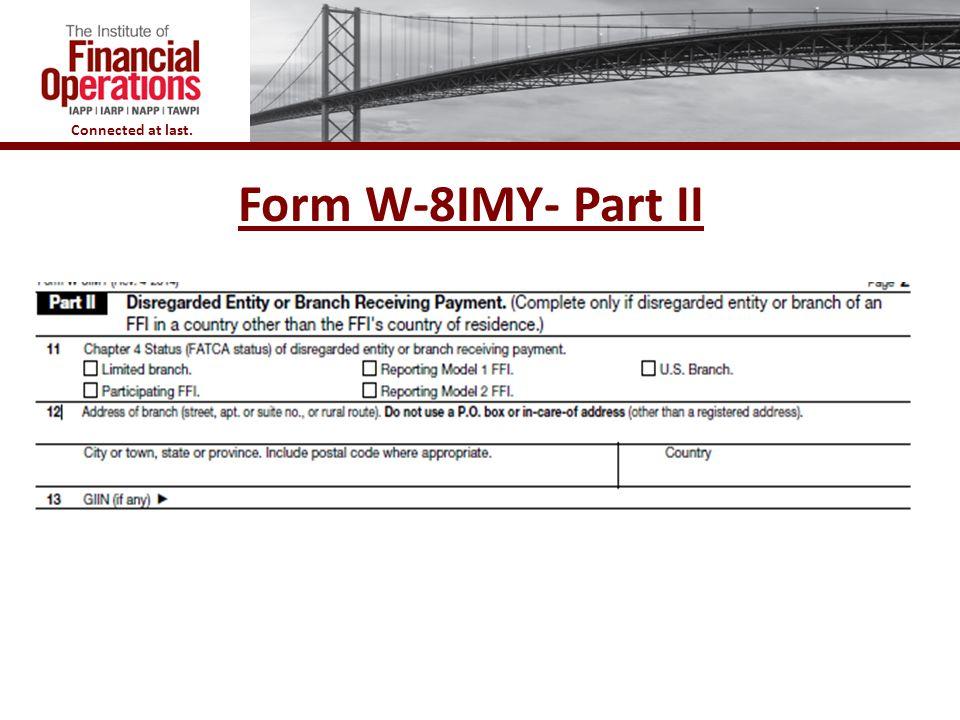 Form W-8IMY- Part II