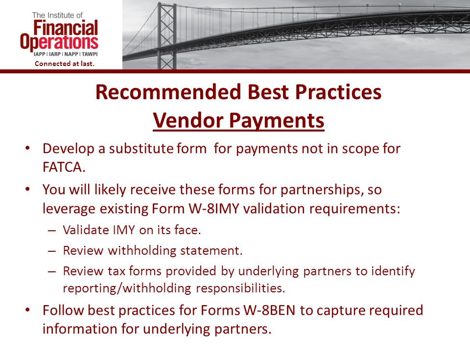 Recommended Best Practices Vendor Payments