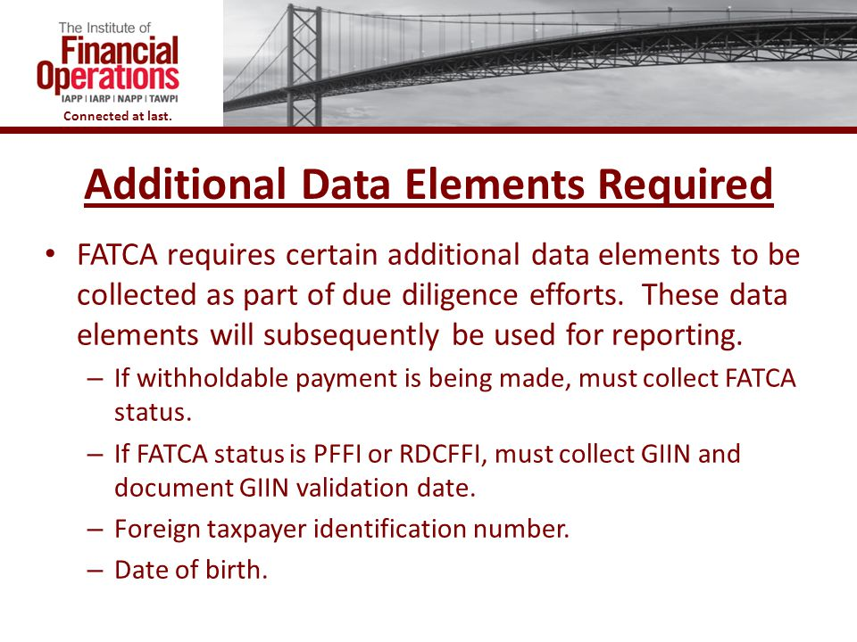 Additional Data Elements Required