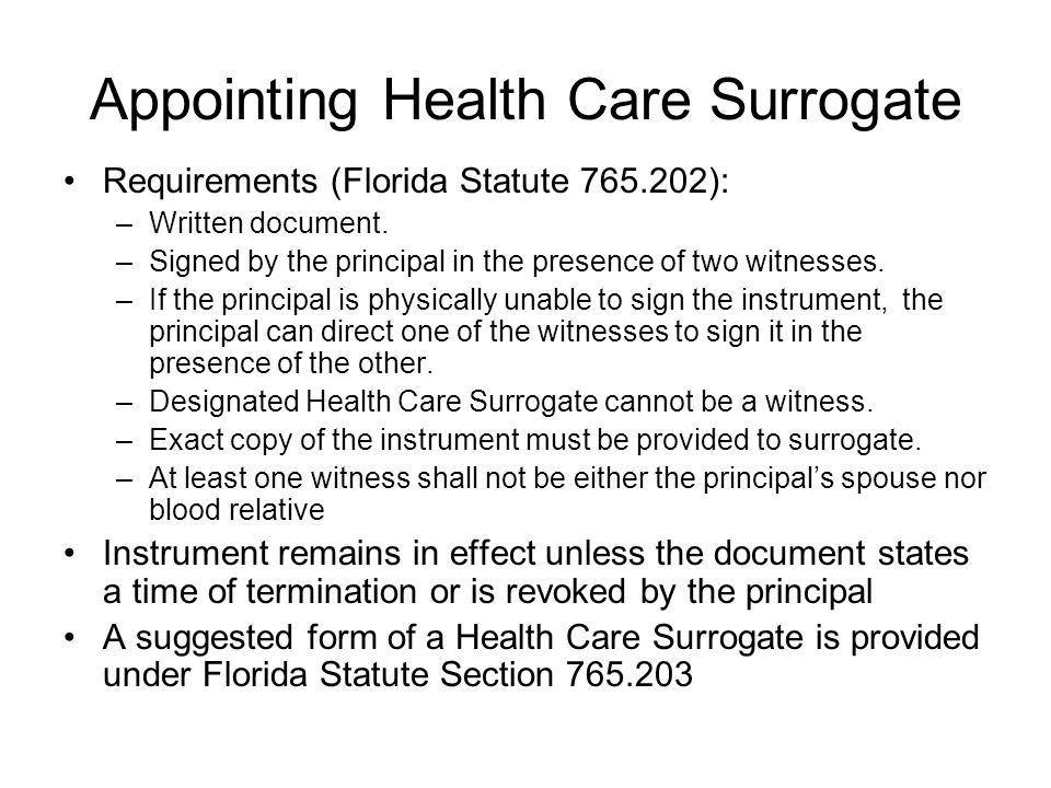 Appointing Health Care Surrogate