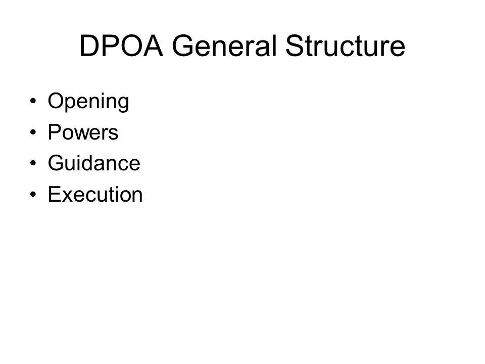 DPOA General Structure