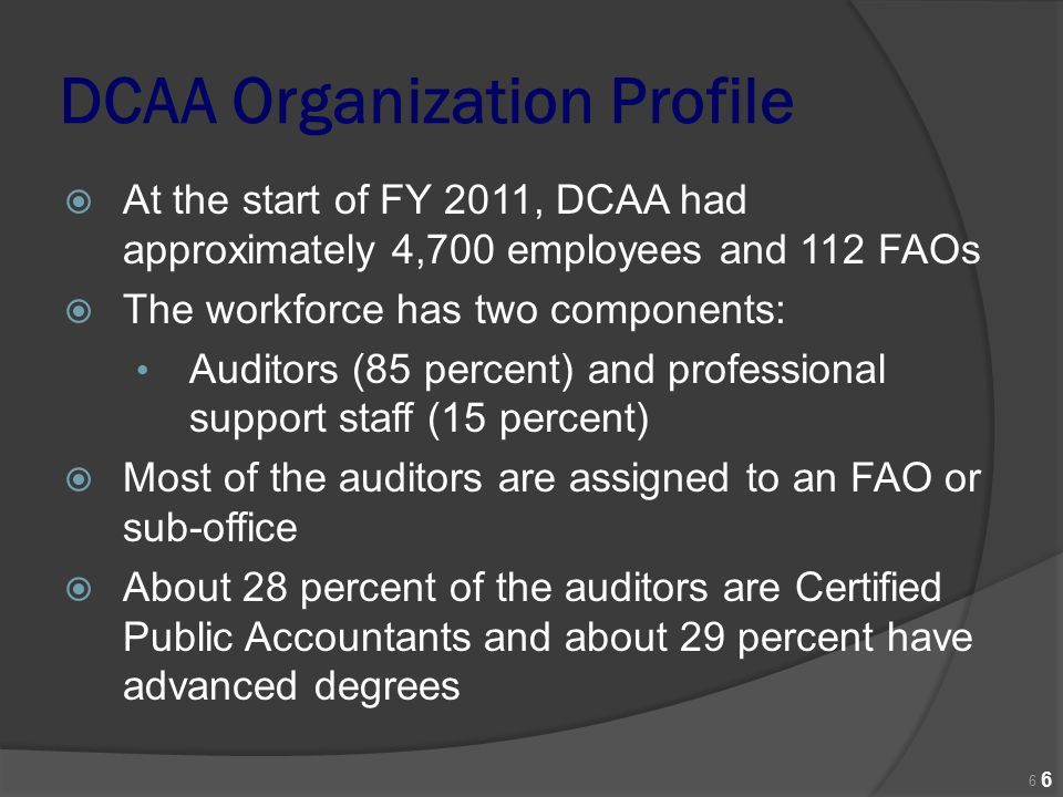 DCAA Organization Profile