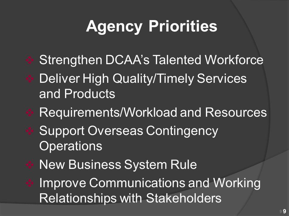 Agency Priorities Strengthen DCAA's Talented Workforce