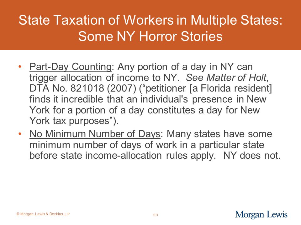 State Taxation of Workers in Multiple States: Some NY Horror Stories