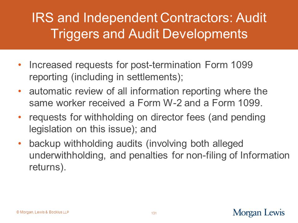 IRS and Independent Contractors: Audit Triggers and Audit Developments