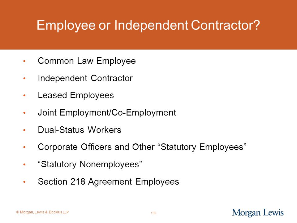 Employee or Independent Contractor