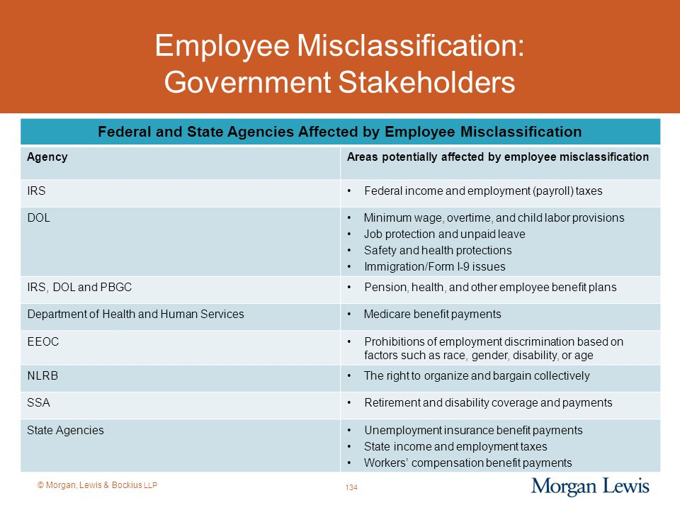 Employee Misclassification: Government Stakeholders