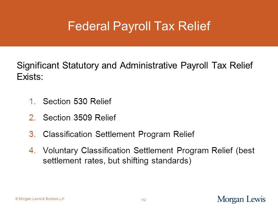 Federal Payroll Tax Relief