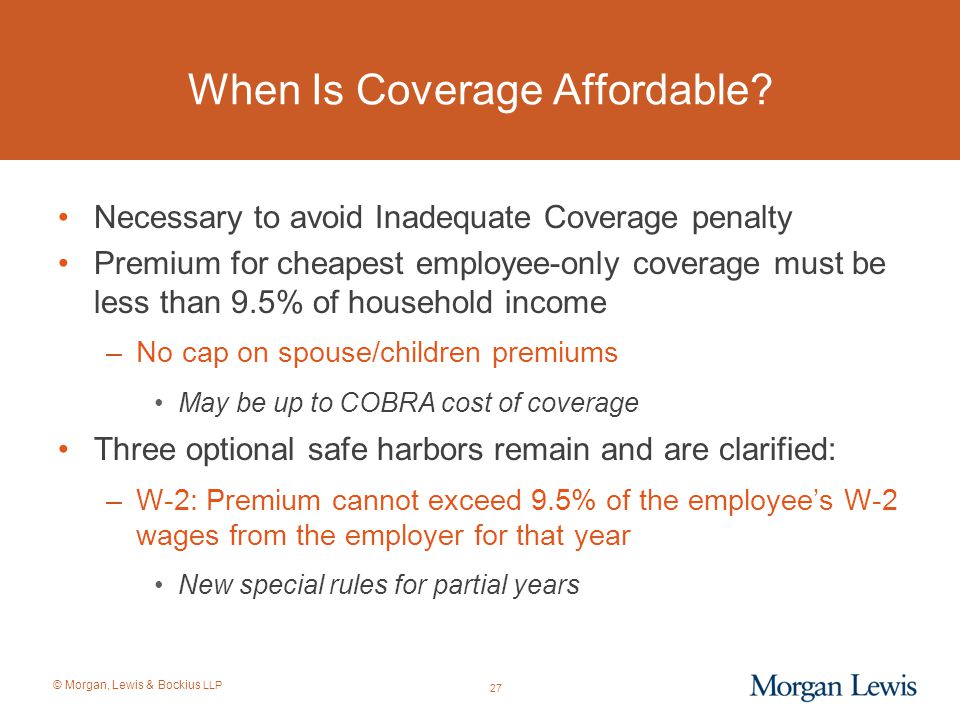 When Is Coverage Affordable