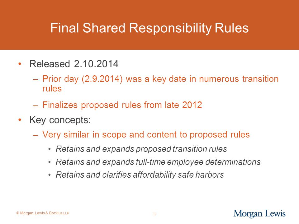 Final Shared Responsibility Rules