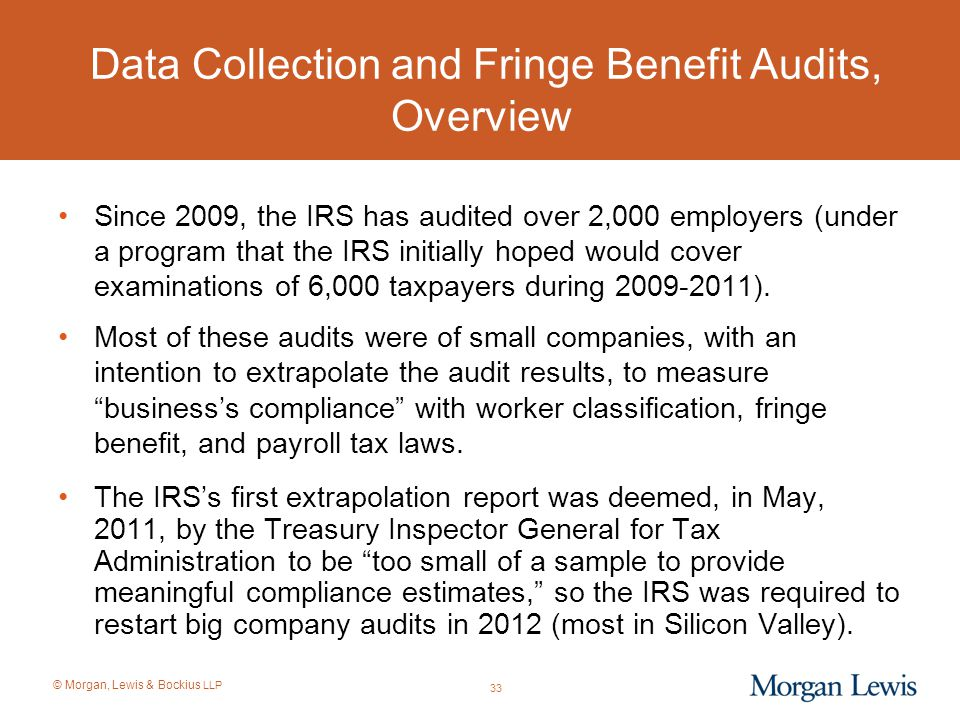 Data Collection and Fringe Benefit Audits, Overview