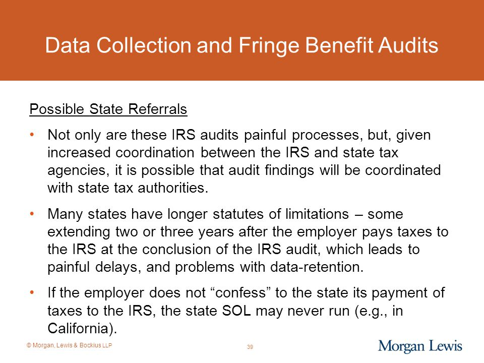 Data Collection and Fringe Benefit Audits