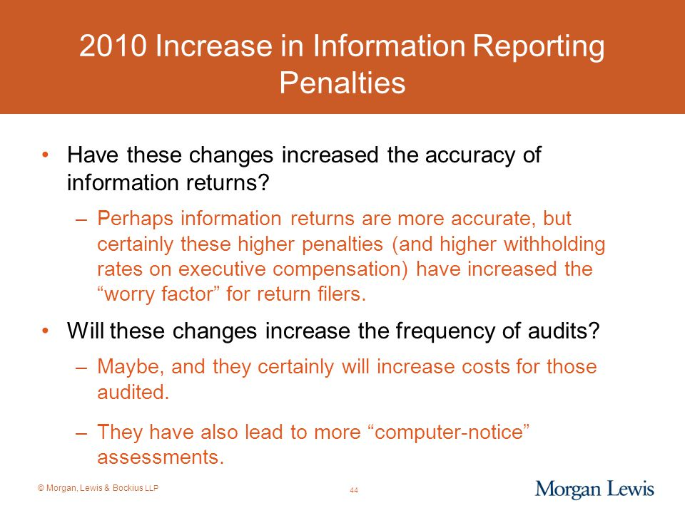 2010 Increase in Information Reporting Penalties