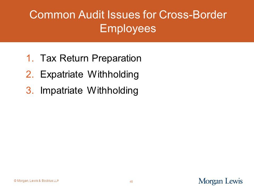 Common Audit Issues for Cross-Border Employees