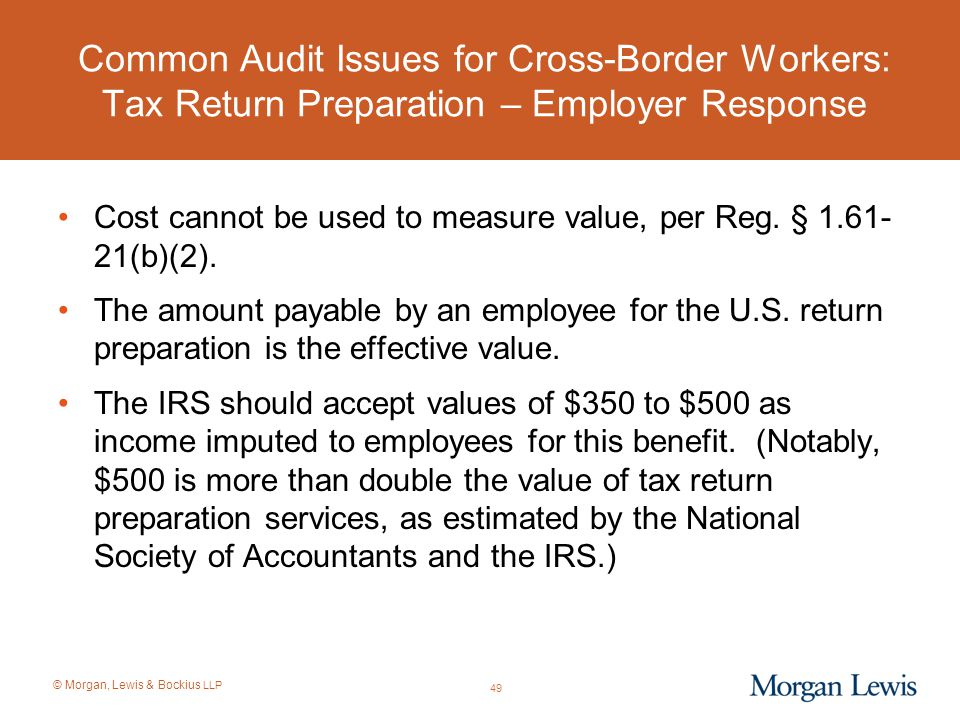 Common Audit Issues for Cross-Border Workers: Tax Return Preparation – Employer Response