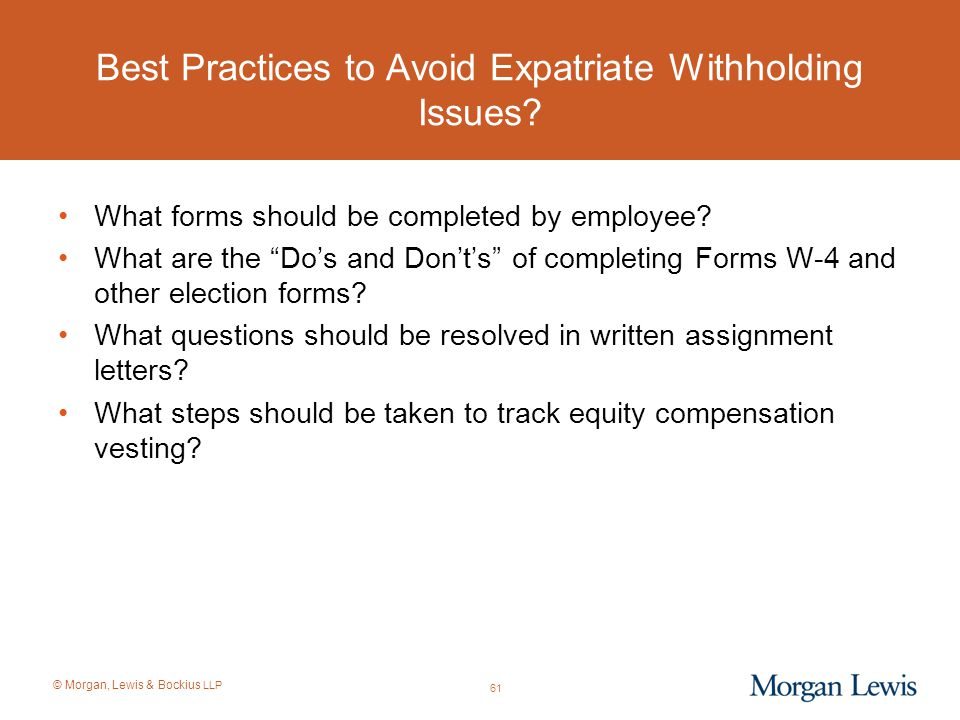 Best Practices to Avoid Expatriate Withholding Issues