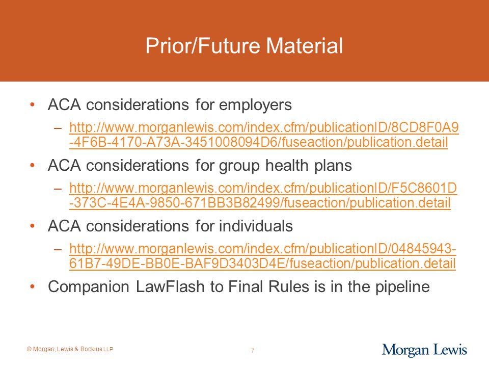 Prior/Future Material