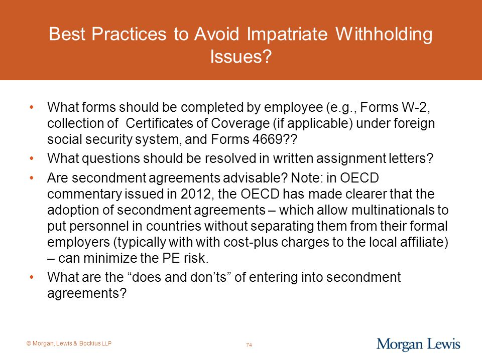 Best Practices to Avoid Impatriate Withholding Issues