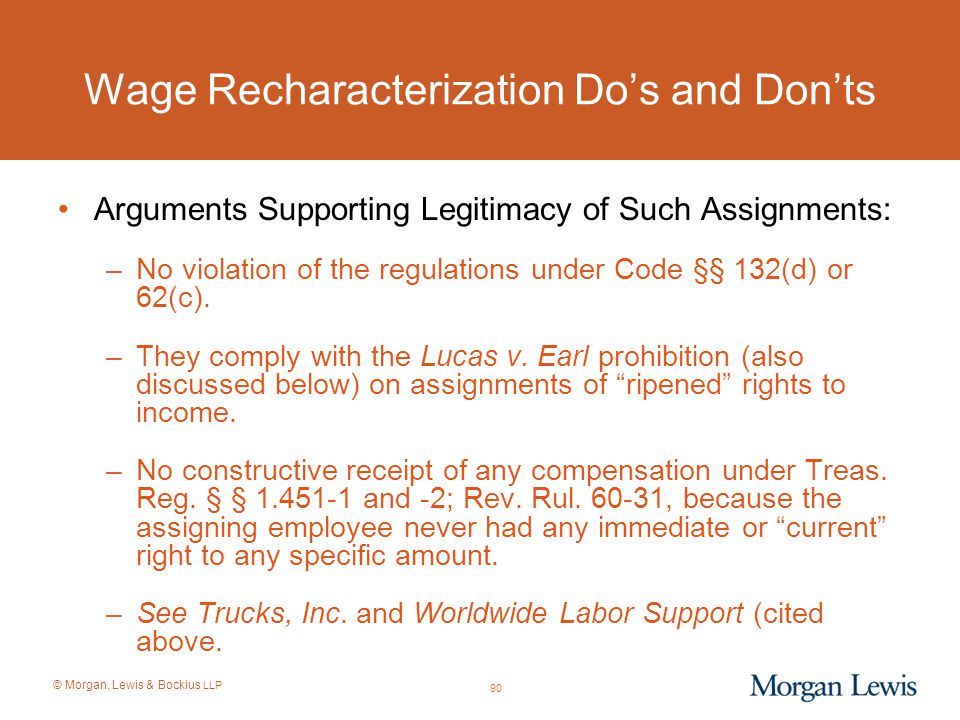 Wage Recharacterization Do's and Don'ts