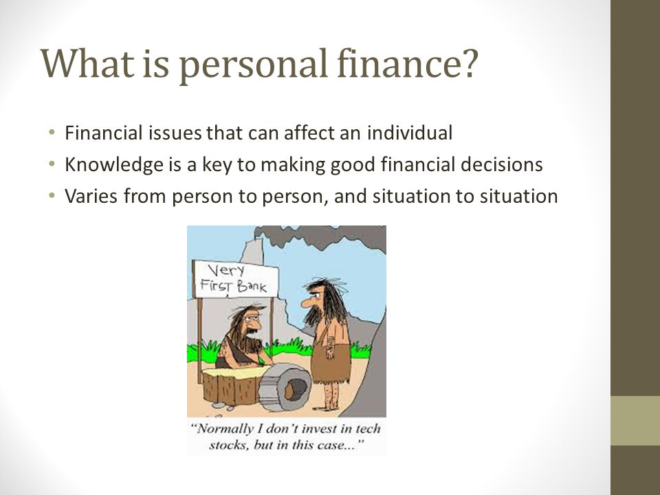 What is personal finance
