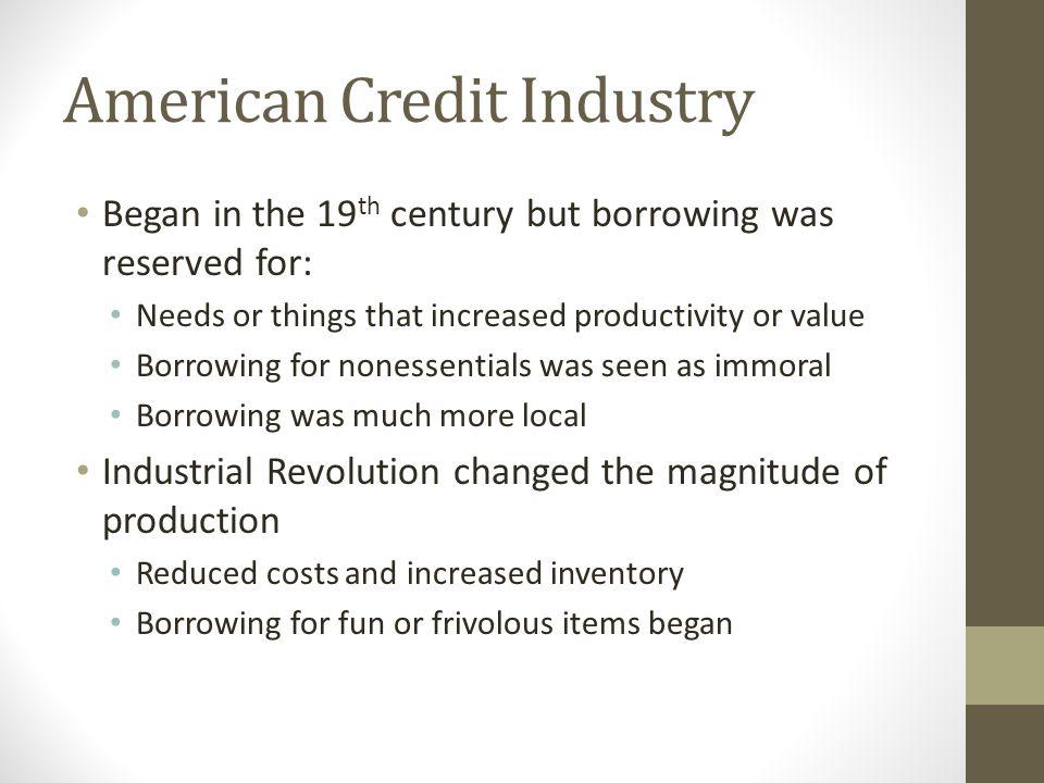 American Credit Industry