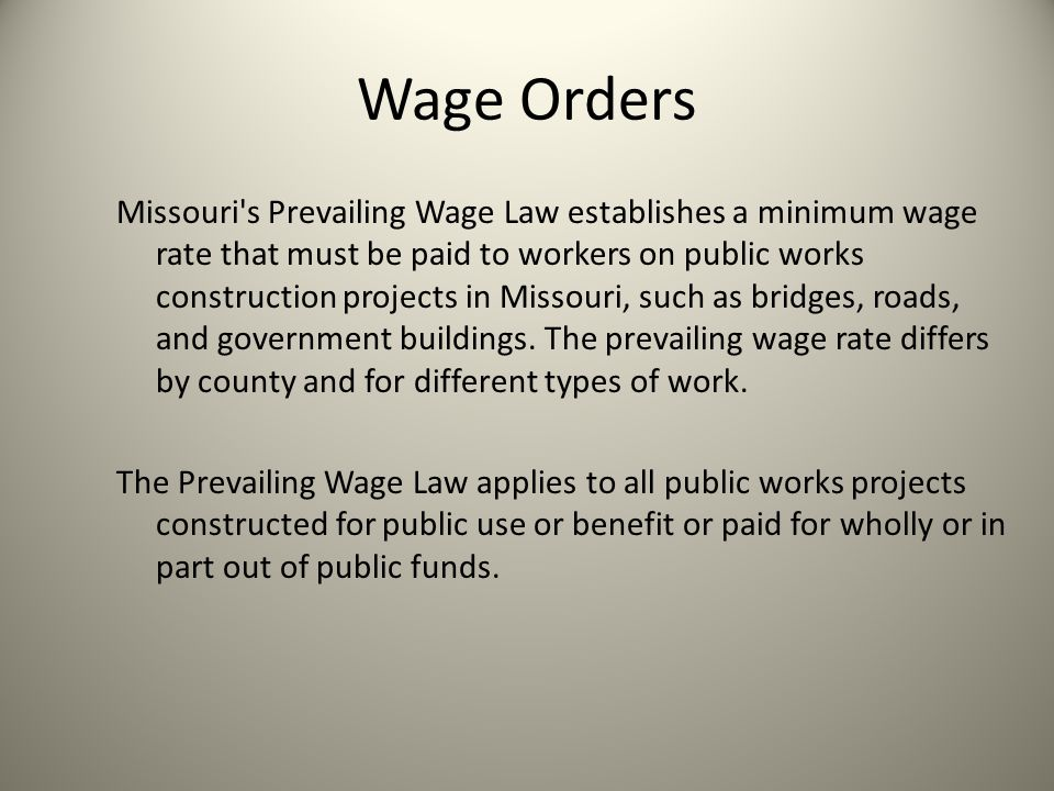 Wage Orders