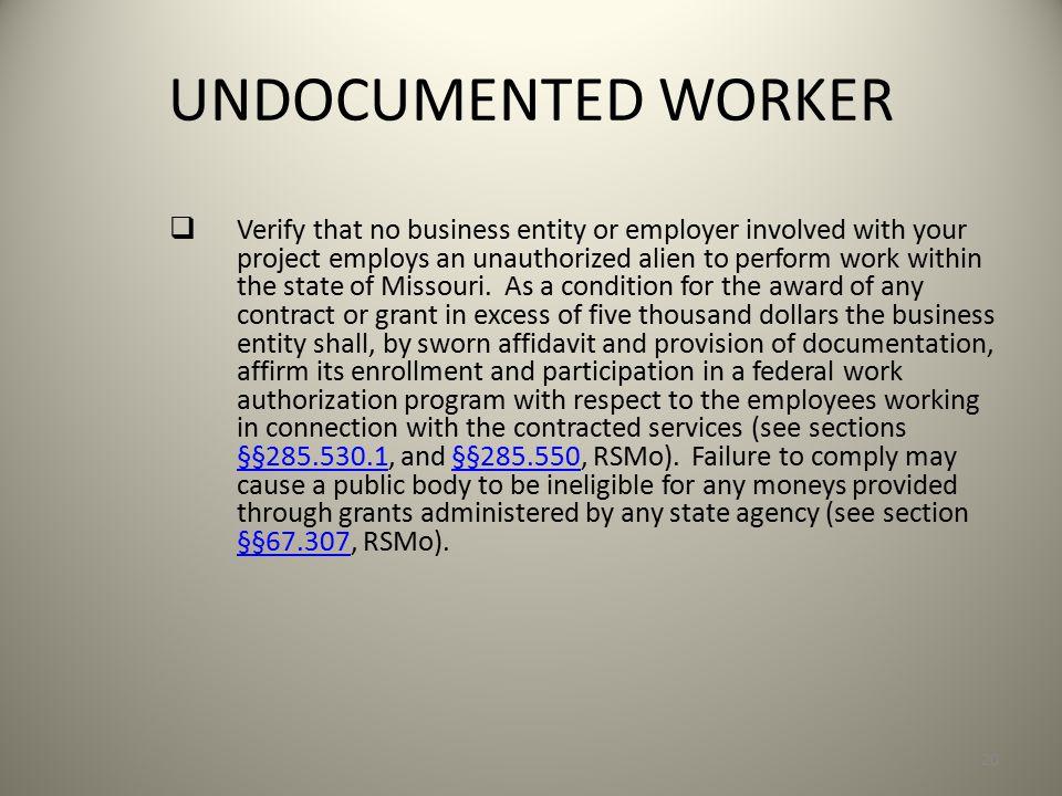 UNDOCUMENTED WORKER