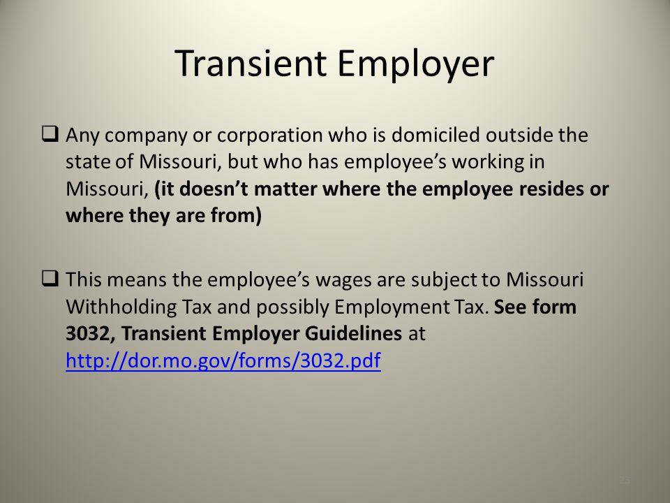 Transient Employer