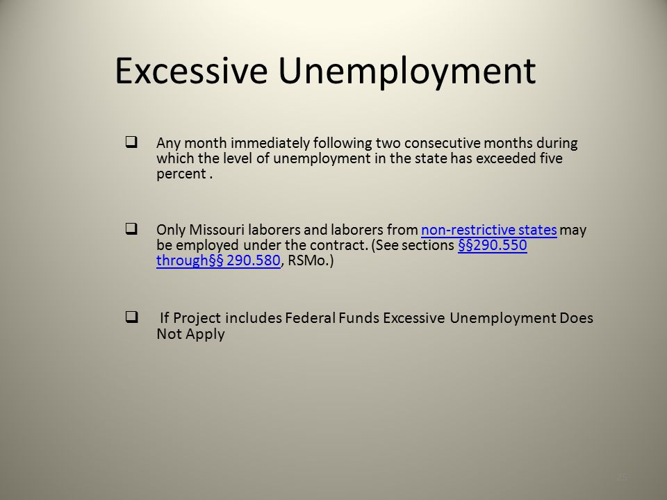 Excessive Unemployment