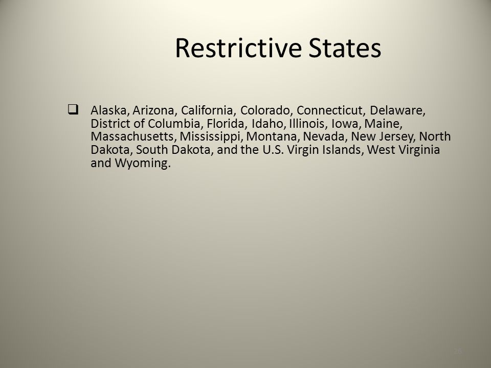 Restrictive States