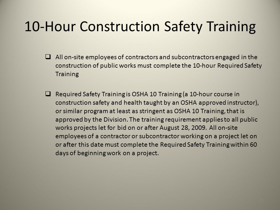10-Hour Construction Safety Training
