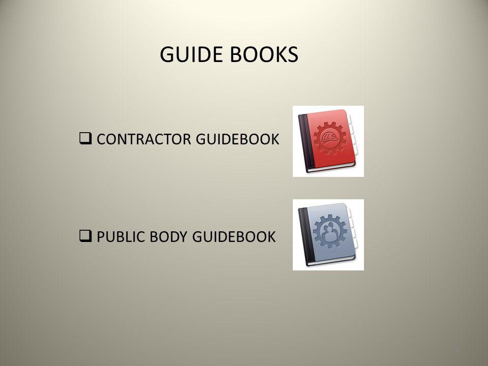 GUIDE BOOKS CONTRACTOR GUIDEBOOK PUBLIC BODY GUIDEBOOK