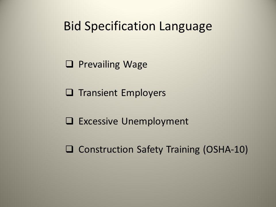 Bid Specification Language