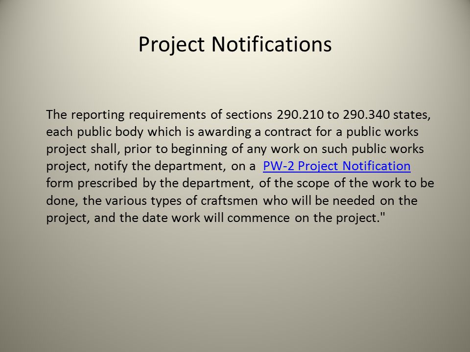 Project Notifications