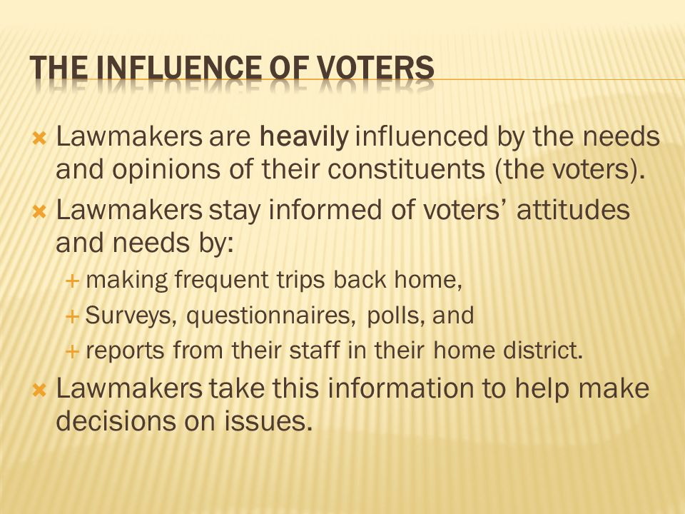 The Influence of Voters