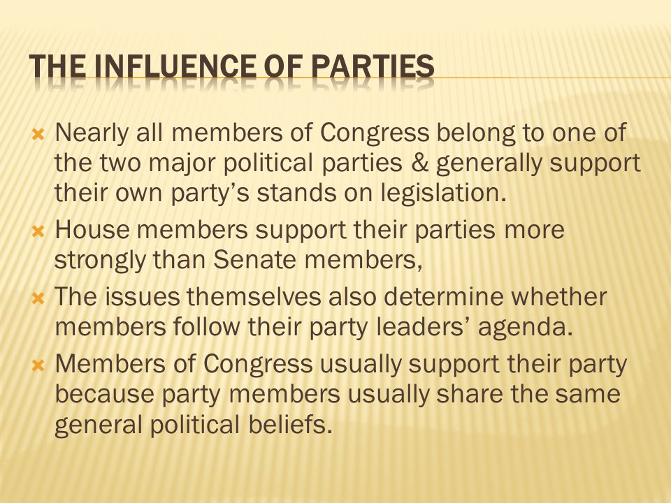 The Influence of Parties