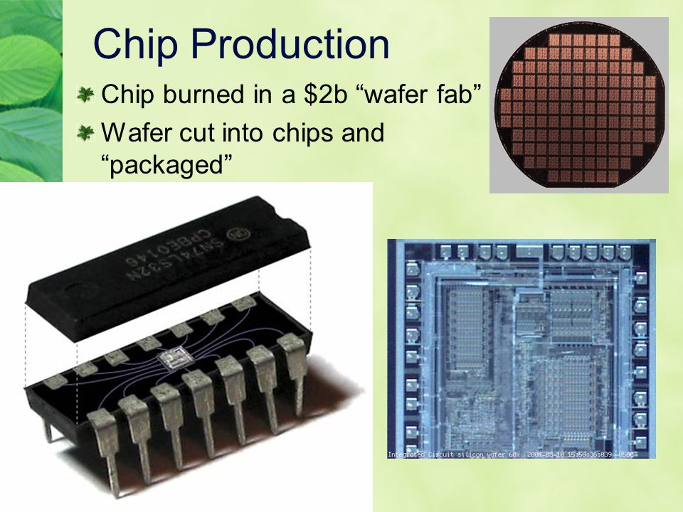 Chip Production Chip burned in a $2b wafer fab