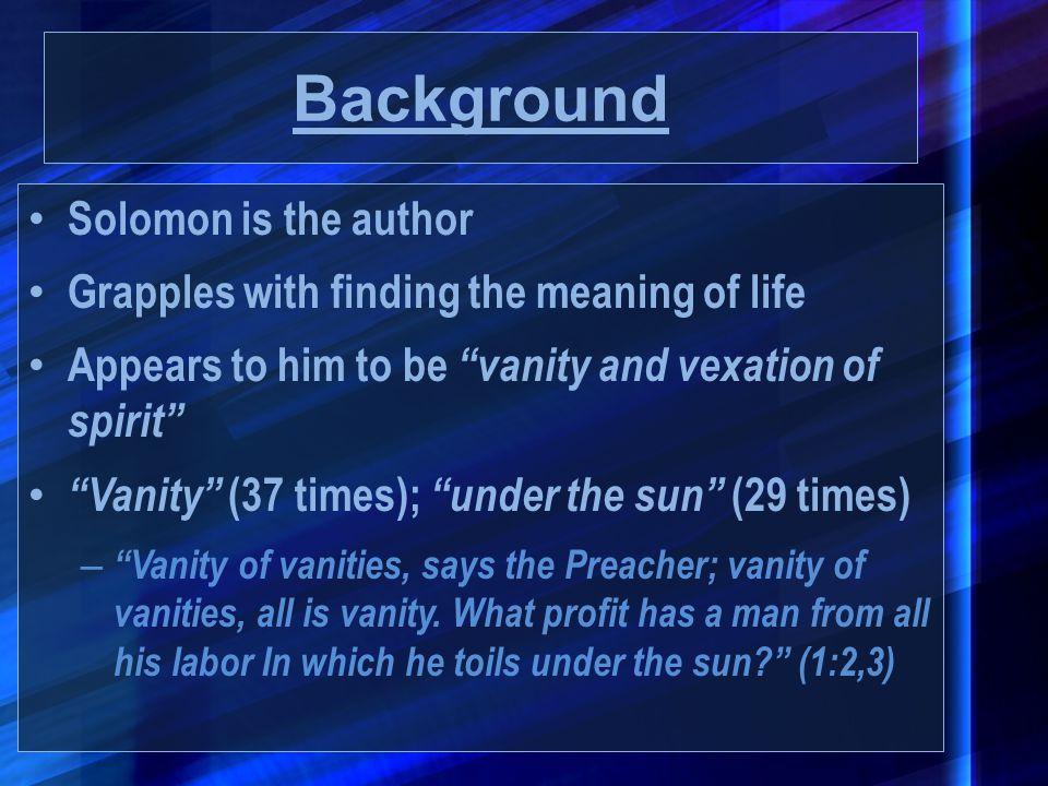 Background Solomon is the author