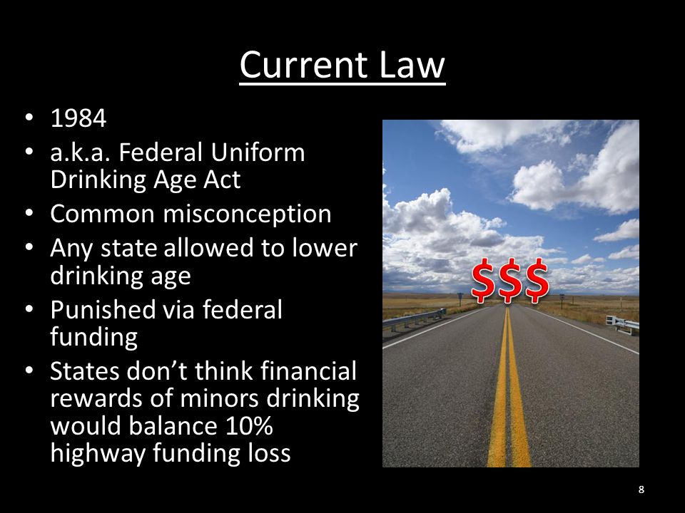 $$$ Current Law 1984 a.k.a. Federal Uniform Drinking Age Act