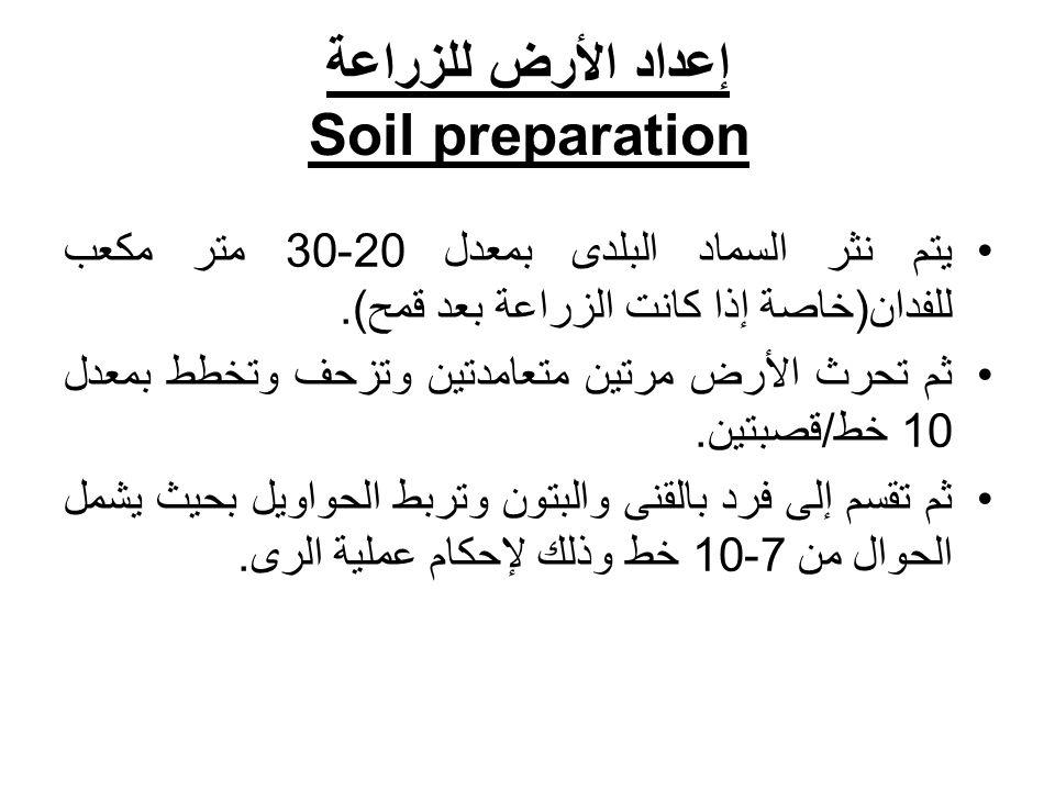 إعداد الأرض للزراعة Soil preparation